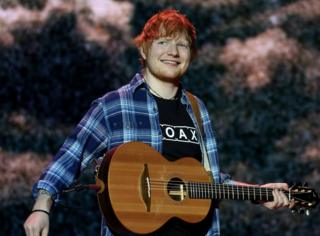 """Ed Sheeran performs on stage during day two of Capital's Jingle Bell Ball with Coca-Cola at London""""s O2 Arena."""