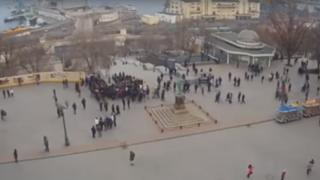 Fake election rally in Odessa, Ukraine, February 2019