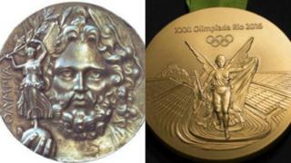 Medallas de 1896 y 2016