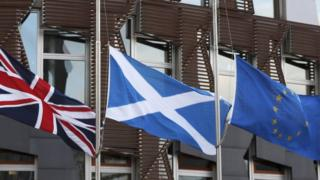 flags at Holyrood