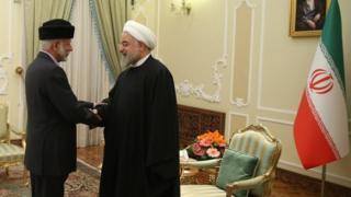 حسن روحانی و یوسف بن علوی در تهران با هم ملاقات کرده اند