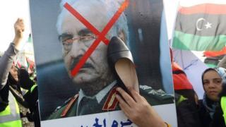 anti-Haftar protest in Tripoli