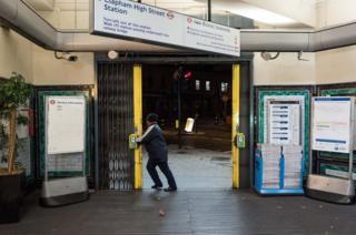 Tube station opening