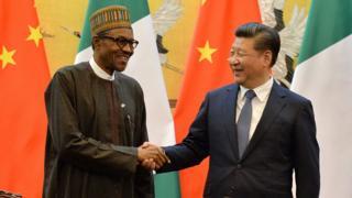 Nigeria President Muhammadu Buhari and China President Xi Jinping for 2016