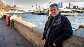 Tony May on the Victoria Embankment