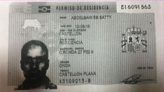 Abdelbaki Es Satty's residency card