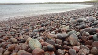Pebbles on the beach in Stornoway