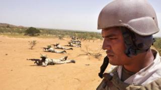 Séance d'entraînement des soldats américains et nigériens, à Samara (Niger), en 2004