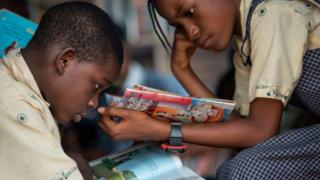 Children dey study for school Nigeria