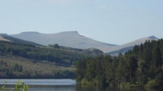 Brecon Beacons is one of the areas the route passes through