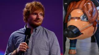 Ed Sheeran and Tally Ho, from Pigs Gone Wild