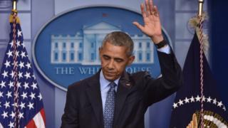 Barack Obama en su última conferencia de prensa como presidente