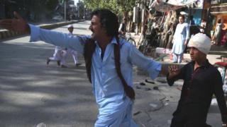 અફઘાનિસ્તાનમાં થયેલા વિસ્ફોટની તસવીર