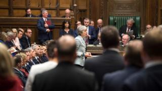 Theresa May fala no Parlamento