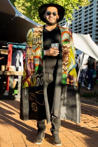Musician Bokani Dyer at AfroPunk festival Johannesburg