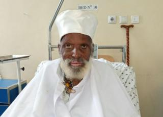 Aba Tilahun in hospital