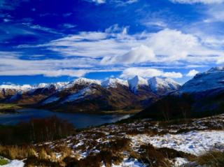 The five sisters of Kintail, looking over from Ratagan.