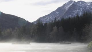 Frozen Glencoe Lochan