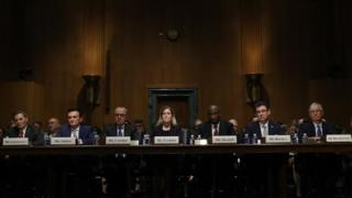 """Chief Executive Officers of pharmaceutical companies testify before the Senate Finance Committee on """"Drug Pricing in America: A Prescription for Change, Part II"""" February 26, 2019 in Washington, DC."""