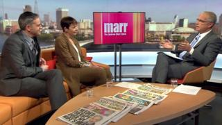 Caroline Lucas and Jonathan Bartley on the Andrew Marr Show