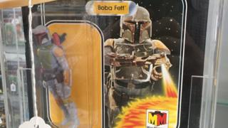Boxed Boba Fett figure which sold for £21,000 (£26,000 including fees)