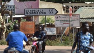 Vue d'une rue de Fada N'Gourma, une ville du Burkina, où sévissent les djihadistes.