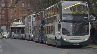 A picture of buses