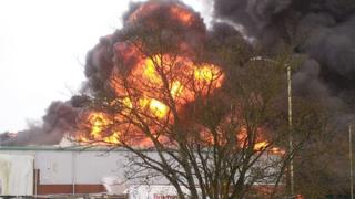 Fire at Stafford industrial estate
