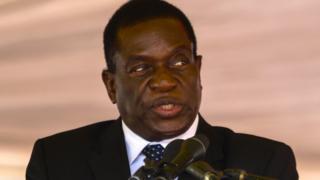 Zimbabwe interim President Emmerson Mnangagwa