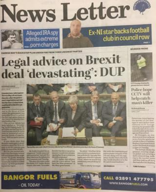 front page news letter Thursday 6 December 2018