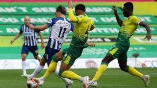 Brighton lead Norwich