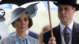 "Britain""s Catherine, Duchess of Cambridge and Prince William, Duke of Cambridge at Ascot"