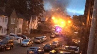 Fire in Clarkston
