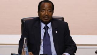Le président Paul Biya au sommet sur le climat le 12 décembre à Paris.