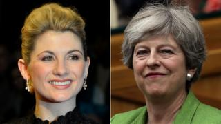 Jodie Whittaker and Theresa May