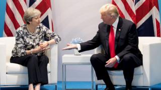 US President Donald Trump and British Prime Minister Theresa May
