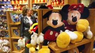 Juguetes de Mickey y Minnie Mouse