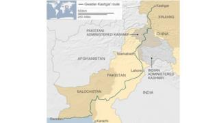 চীন-পাকিস্তান অর্থনৈতিক করিডোরের প্রস্তাবিত রুট