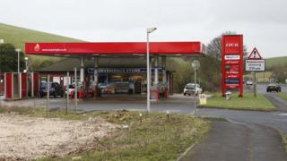 Local Fuels petrol station on the A27 near Lewes