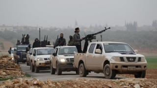 İdlib'deki savaşçılar