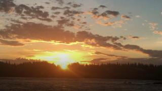 الشمس في منطقة لابلاند