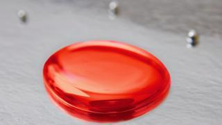 a red blob