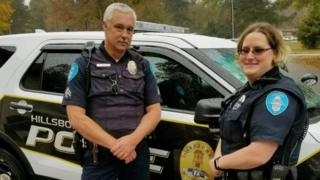 Senior Corporal Keith Bradshaw and Officer First Class Candace Spragins