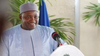 Rais wa Gambia Adama Barrow