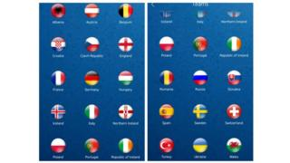 The Euro 2016 app