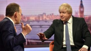 Boris Johnson və Andrew Marr