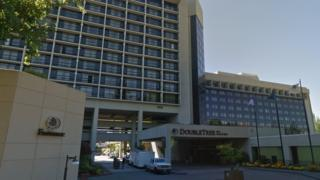 The DoubleTree hotel in Portland Oregon