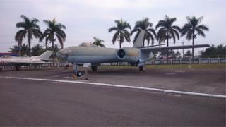 """李顯斌將這架伊爾28型轟炸機從浙江杭州筧橋基地飛到台灣的桃園""""起義來歸""""。"""