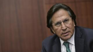 Former President of Peru Alejandro Toledo speaks during a discussion on Venezuela and the OAS at The Center for Strategic and International Studies (CSIS) on June 17, 2016 in Washington, DC.