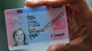A sample identity card